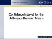 3 Confidence Interval for the Difference Between Means(2)