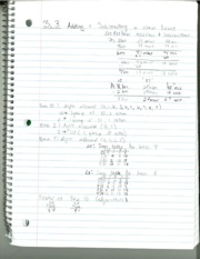 MATH 208 Section 3.3 Notes