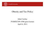 PAM 4380 guest lecture spr 2011 -- junk food taxes