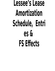 23, Lessee Amortization Schedule & Entries