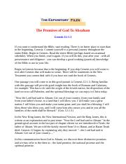 The Promises of God To Abraham.docx