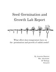 seed germination lab report