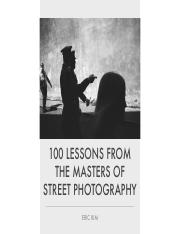 100 Lessons From the Masters of Street Photography-Eric Kim