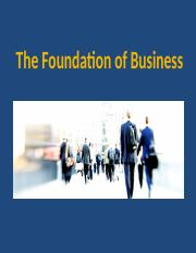 Lesson-Intro to Business -Foundation of business