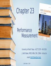 Chapter 23 - Cost Accounting - JK Baker(1)