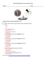 Three Branches of Government Test.doc