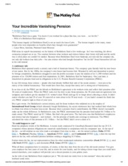 your incredible vanising pension
