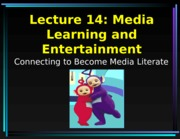 Lecture 14 Entertainment Card Talk