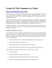 Lesson 10 Computer as a Tutor.docx