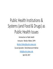 L 23 Public Health Institutions & Systems and Food & Drugs as Public Health Issues.pdf