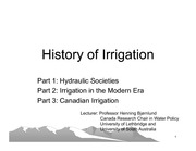 Topic 5 History of irrigation