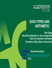 4 - DataTypes and Arithmetic-pre