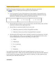 MAT 221 - Week 3 - DQ 1 - Parallel and Perpendicular.docx