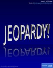 Lab Practical Review Jeopardy