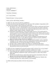 HR Interview questions (1)