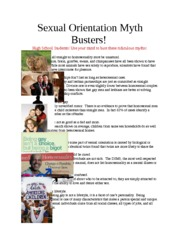 Sexual Orientation Myth Busters