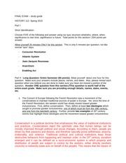 Western civilization exam essay questions