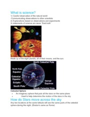 Science and the Solar System Questions and Answers
