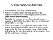 Dimensional Analysis Section