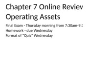 Financial Chapter 7 - Aug 3