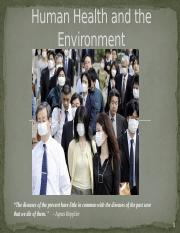 Human Health and the Environment APES KOVALLE