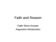 Reason and Faith