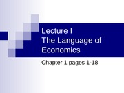 Lecture 1 - The Language of Economics (Student)