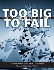 Gary H. Stern, Ron J. Feldman-Too Big to Fail_ The Hazards of Bank Bailouts-Brookings Institution Pr