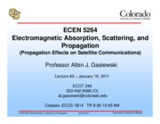 ECEN 5264 Lecture 03