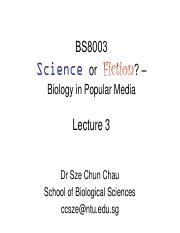 BS8003 Lecture 3