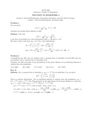 Homework 4 Solution on Principles of Actuarial Models Life Contingencies