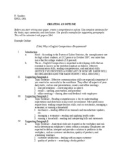 outline worksheet 2 k sanders engl 1301 creating an outline before you. Black Bedroom Furniture Sets. Home Design Ideas