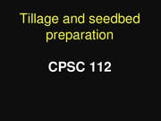 Lecture 19 _ Tillage and Seedbed preparation