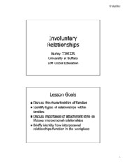 Lecture 10 - Involuntary Relationships