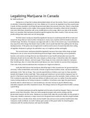 Legalizing Marijuana in Canada
