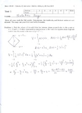 Exam 1 Solutions 2010 Part 1