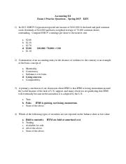 Exam 1 Practice Questions - KEY