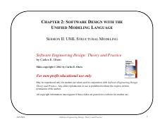 Chapter 2 - UML - Session II