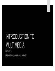 CHAPTER-1 INTRODUCTION TO MULTIMEDIA2