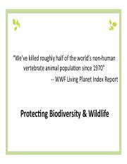 Lecture 18 Wildlife Protection