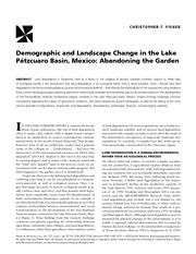 Fisher 2005 Demographic and Landscape Change in the Lake Patzcuaro Basin