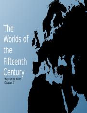 Worlds of the FIfteenth Century PPT