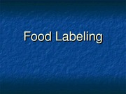 PUBH 1517 - Food Labeling