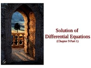 Chap 9 Part 1  Solutions of Differential Eqs (Euler,Heun,Taylor Series Method, Runge-Kutta O(4))