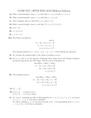 COMP SCI 4003 Solutions for Midterm 2012
