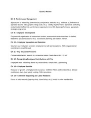 Management Structures Exam Study Guide