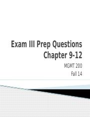 Exam III Review Questions Ch9_12