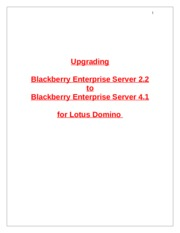 BlackberryEnterpriseServerv22tov41UpgradationforDomino