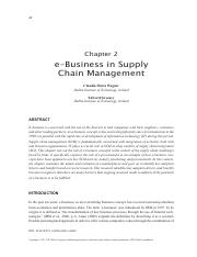 e_Business_in_supply_chain_management