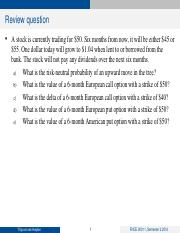 L5 Review Question Solutions
